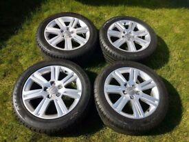 17 inch orginal stock Audi A4 b8 alloys with tyres
