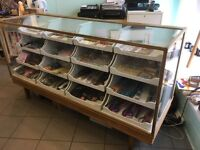 Haberdashery counter. Fully refurbished including new toughened glass counter top