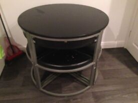 Hygena Milan round table and chairs
