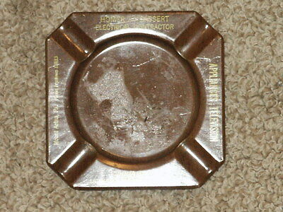 Vintage Metal Ashtray Homer Bassert Electrical Contractor Mount Aetna, PA