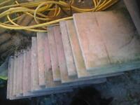17 paving slabs