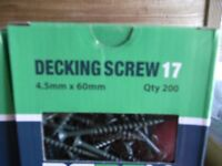 Decking screws 60mmx4.5mm 200qty