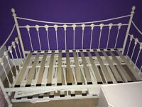 Day bed with trundle bed. As picture. Mattress not included. Collection only.