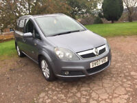 VAUXHALL ZAFIRA 1.9 CDTI 6 SPEED MANUAL DESIGN 7 SEATER