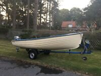 Darrah 14ft Boat with outboard and trailer