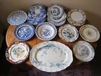 Small collection of antique porcelain dinnerware, some very rare pieces!