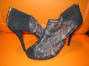 Black Lace High Heel Shoes