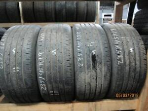 SET OF 4 MATCHING 235/45R19 WITH A SPARE ALSO CONTINENTAL A/S TIRES