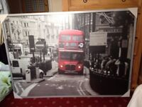 Large (100x140 cm) Framed Prints of Iconic London Scenes-Ideal Office etc