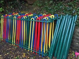 Bow top metal railings fencing
