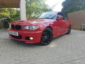 BMW 320CD M SPORT MANUAL 2005 IMOLA RED