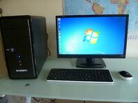 Computer + 22in Full HD Monitor + Keyboard