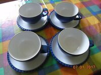 DENBY cups and saucers