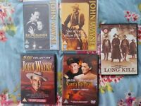 DVDs x 9 - JOHN WAYNE, ERROL FLYNN etc.