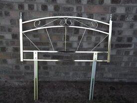Single metal head board