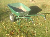 Large (180 L) Haemerlin twin-wheeled wheel barrow - farm, stables, buiilding or garden