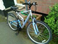 Apollo FS26 mountain bike, full suspension,26 inch wheels,18 gears, 20 inch frame in good condition