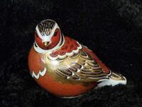 Retired Royal Crown Derby Chaffinch Bird Paperweight