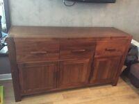 Solid wood hard wood sideboard