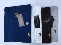 Ralph Lauren Man's 100% Authentic Crew Neck Short Sleeve T-shirt white grey navy blue black