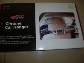 Chrome in car coat hanger