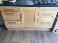 All kitchen units to go. Excellent order, four other units not in picture £400 all removed