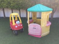 Little Tikes Cosy Cottage Playhouse & Cozy Coupe Car
