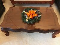 Beautiful Hand Carved Solid Wood Coffee Table