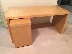 JONAS Ikea desk with pull out section Crows Nest North Sydney Area Preview