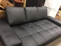 Large black sofa bed
