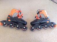 In Line Adjustable Skates, Shoe Size 3