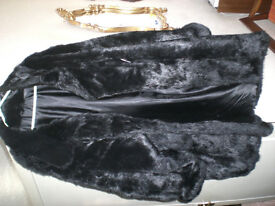 Ladies' synthetic fur coat
