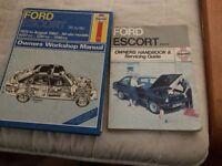 Ford mk 2 Escort manuals by Haynes.