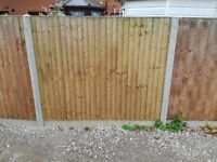 9x Feather Edge Fence Panels & Concrete Gravel Boards
