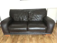 DFS 3 seater and 2 seater leather sofas