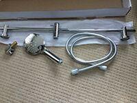 Shower riser rail and handset, brand new