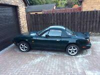 Eunos Roadster / MX5 Mark1 racing green plus original hard top
