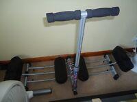"""""""Leg Master"""" leg exerciser, Folds for storage, Varying levels of difficulty"""