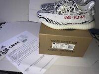 ADIDAS X Kanye West Yeezy Boost 350 V2 ZEBRA White/Black UK7.5 CP9654 ADIDAS RECEIPT 100sales