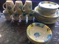 Stoneware dinner set for sale