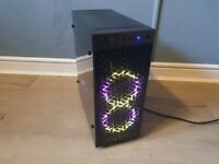 Gaming PC with RGB lighting ,new and used parts - Midrange. Fortnite, League of Legen