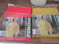 Large rain ponchos
