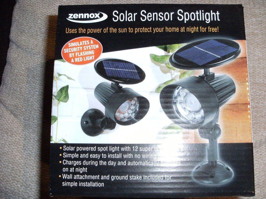 SOLAR SENSOR SPOTLIGHT (Brand New & Boxed)