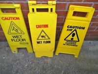 2 Wetfloor signs and 1 other