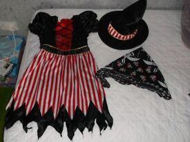 Girls Halloween Outfits x 3 (6-8yrs £3.50; 7-8yrs £4; & 10-11yrs £3.50)
