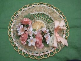 Lace and Ribbon Wickerwork Floral Display