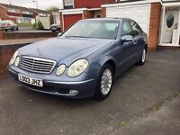 Mercedes E-Class, 2003 New Shape, Automatic, 2.2 CDI DIESEL, Grey, 12 MONTHS MOT, Service History