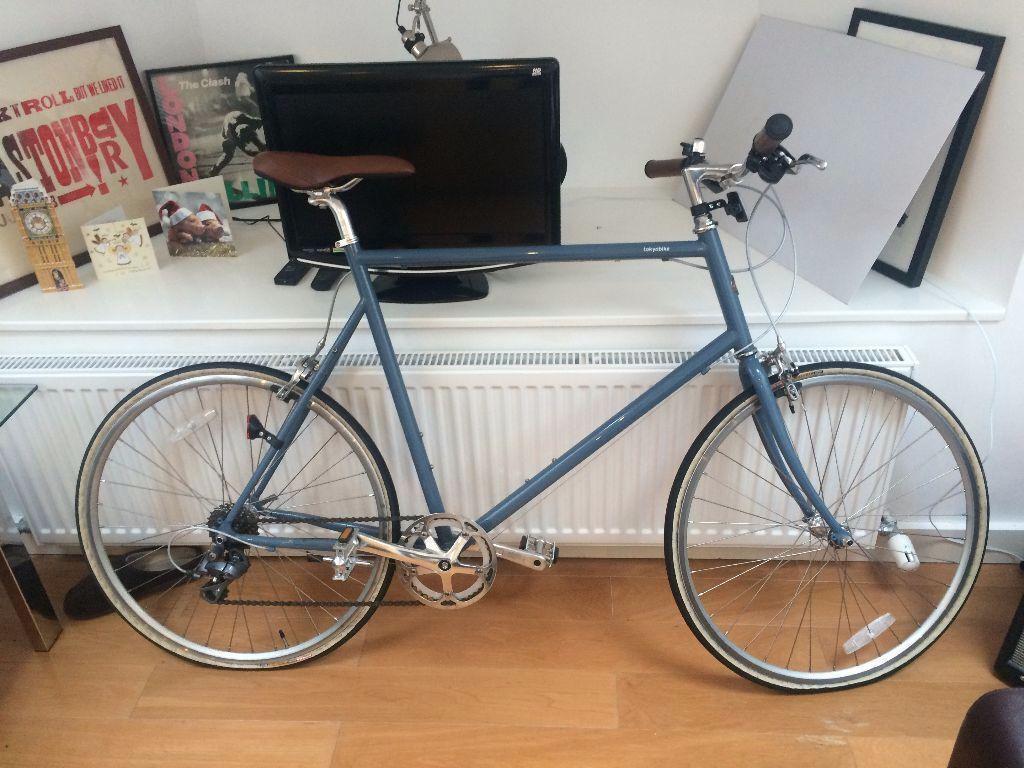Tokyo Bike Cs Blue Grey 61cm Locks And Lights Rrp 580 In