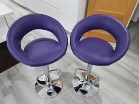 Purple Bar Stools - pair