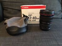Canon EF 17-40mm f/4L USM - Mint condition